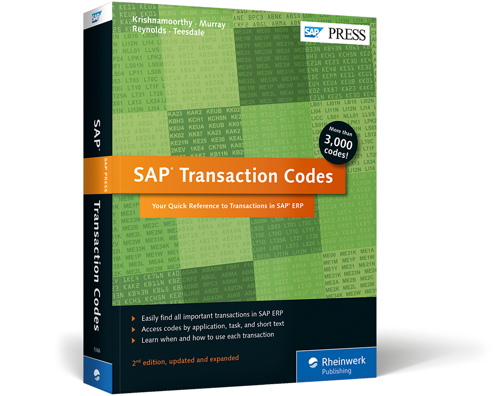 SAP Transaction Codes - Your Quick Reference to Transactions in SAP ERP