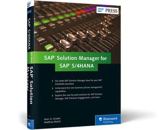 Cover of SAP Solution Manager for SAP S/4HANA