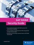 Cover of SAP HANA Security Guide