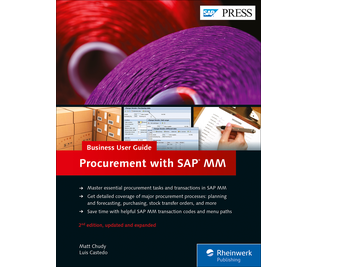Cover von Procurement with SAP MM: Business User Guide