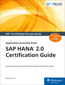 Cover of SAP HANA 2.0 Certification Guide