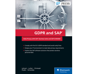 Cover von GDPR and SAP