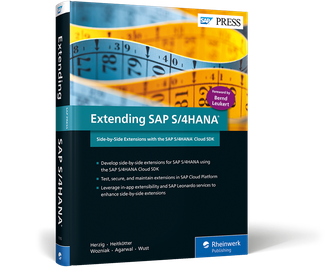 Cover of Extending SAP S/4HANA