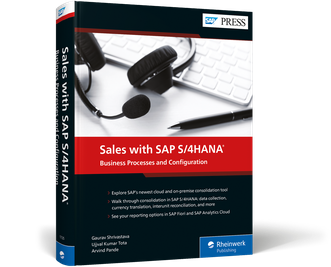 Cover von Sales with SAP S/4HANA