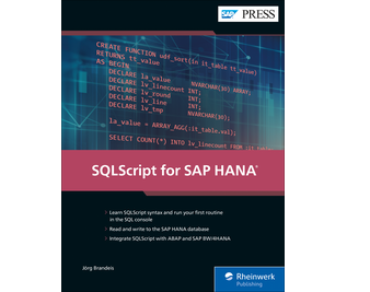 Cover von SQLScript for SAP HANA