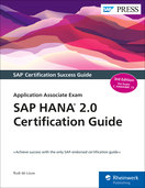 Cover von SAP HANA 2.0 Certification Guide: Application Associate Exam