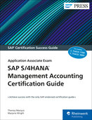Cover of SAP S/4HANA Management Accounting Certification Guide