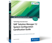 Cover of SAP Solution Manager 7.2 System Configuration Certification Guide