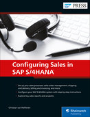 Cover of Configuring Sales in SAP S/4HANA