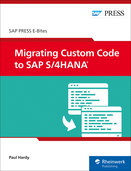 Cover von Migrating Custom Code to SAP S/4HANA