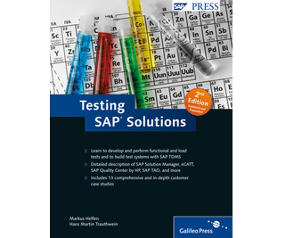Cover of Testing SAP Solutions