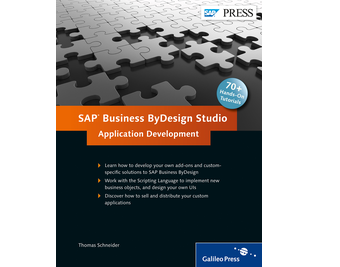 Cover of SAP Business ByDesign Studio – Application Development