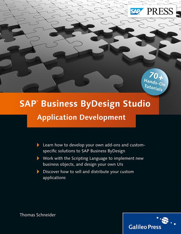 Sap Business Bydesign Studio Application Development By Sap Press