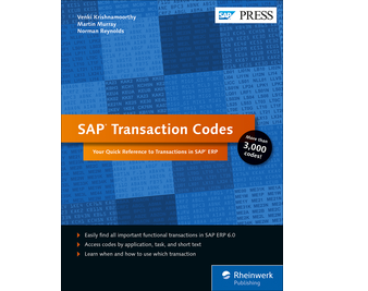 Cover von SAP Transaction Codes