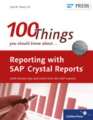Cover von Reporting with SAP Crystal Reports