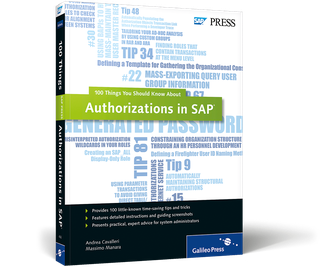 Cover von Authorizations in SAP