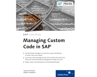 Cover von Managing Custom Code in SAP