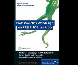 Cover von Professionelles Webdesign mit (X)HTML und CSS