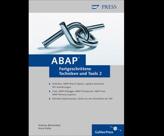 Cover von ABAP – Fortgeschrittene Techniken und Tools, Band 2