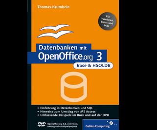 Cover von Datenbanken mit OpenOffice.org 3 Base und HSQLDB