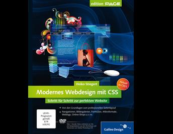 Cover von Modernes Webdesign mit CSS