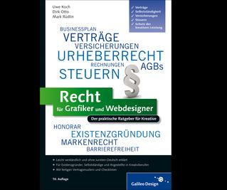 Cover von Recht für Grafiker und Webdesigner