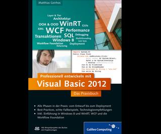 Cover von Professionell entwickeln mit Visual Basic 2012