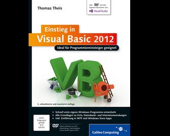 Cover von Einstieg in Visual Basic 2012