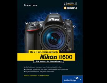 Cover von Nikon D600. Das Kamerahandbuch