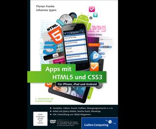 Cover von Apps mit HTML5 und CSS3