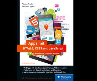 Cover von Apps mit HTML5, CSS3 und JavaScript