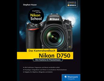 Cover von Nikon D750. Das Kamerahandbuch