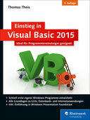Cover von Einstieg in Visual Basic 2015