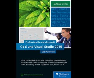 Cover von Professionell entwickeln mit C# 6 und Visual Studio 2015
