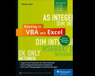 Cover von Einstieg in VBA mit Excel