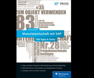 Cover von Materialwirtschaft mit SAP − 100 Tipps & Tricks