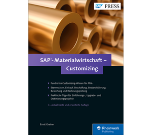 Cover von SAP-Materialwirtschaft – Customizing