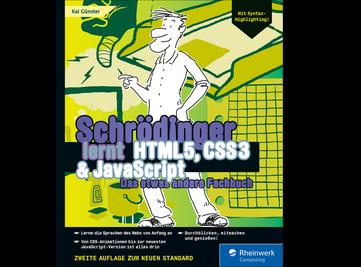 Cover von Schrödinger lernt HTML5, CSS3 und JavaScript