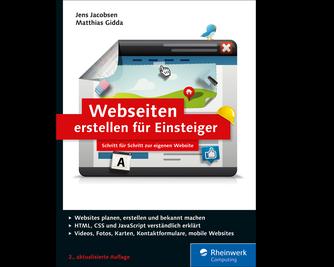 Cover von Webseiten erstellen für Einsteiger