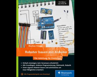 Cover von Roboter bauen mit Arduino