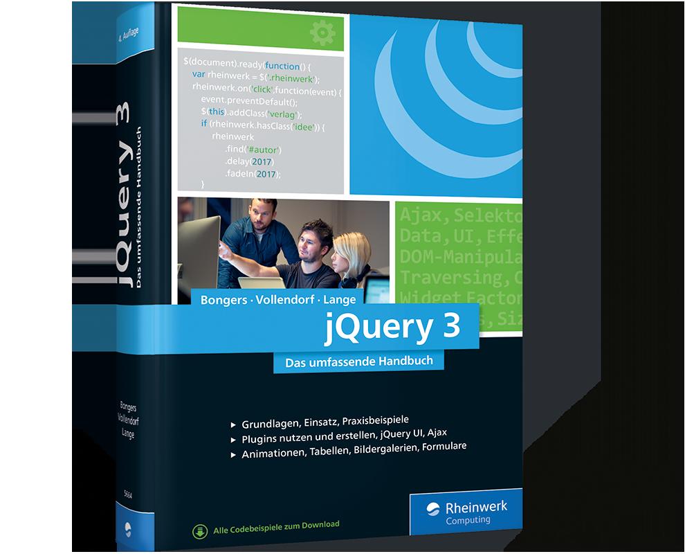 cover von jquery 3 - Jquery Beispiele