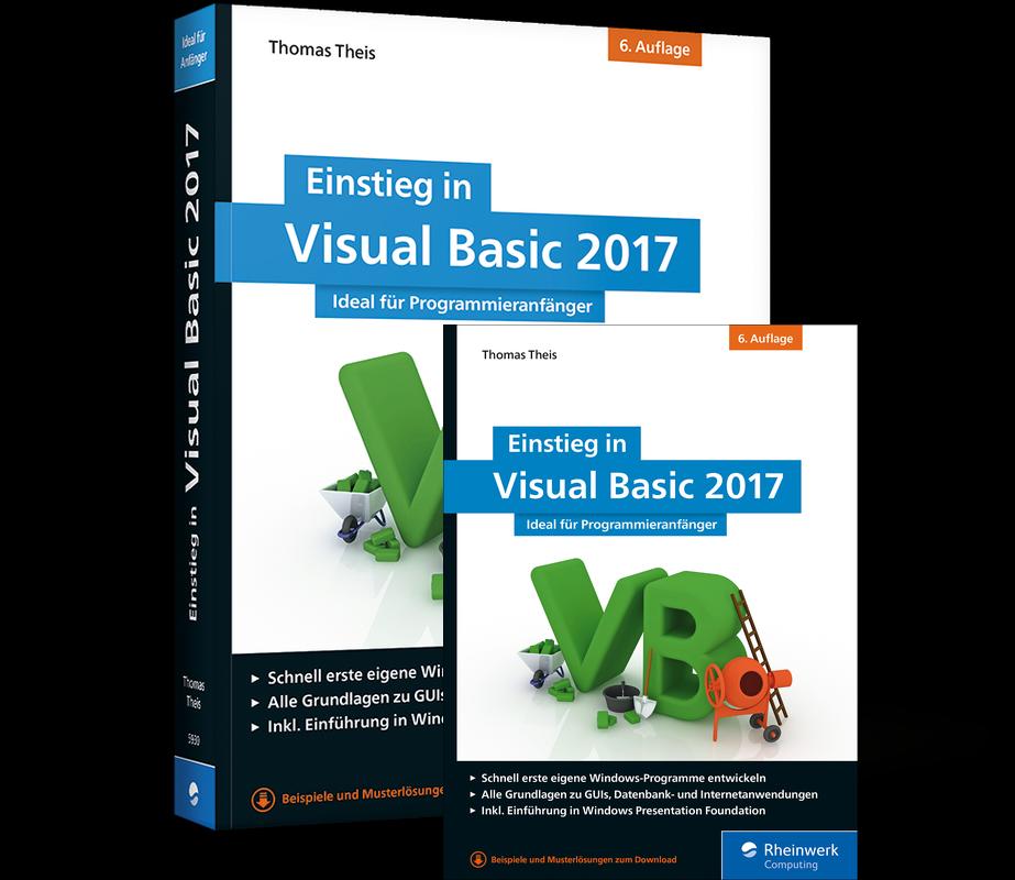 cover von einstieg in visual basic 2017 - Visual Basic Beispiele