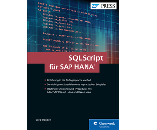 Cover von SQLScript für SAP HANA