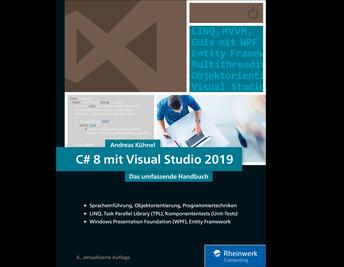 Cover von C# 8 mit Visual Studio 2019