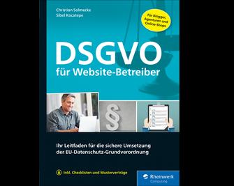 Cover von DSGVO für Website-Betreiber
