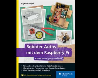 Cover von Roboter-Autos mit dem Raspberry Pi
