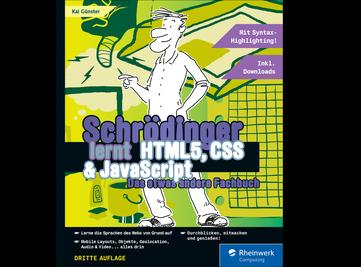 Cover von Schrödinger lernt HTML5, CSS und JavaScript