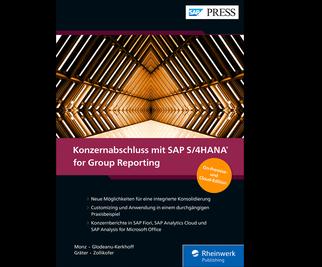 Cover von Konzernabschluss mit SAP S/4HANA for Group Reporting