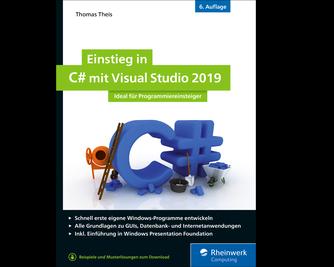 Cover von Einstieg in C# mit Visual Studio 2019