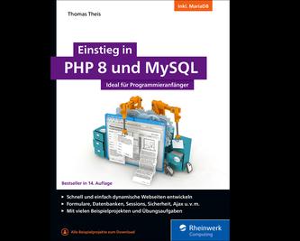 Cover von Einstieg in PHP 8 und MySQL